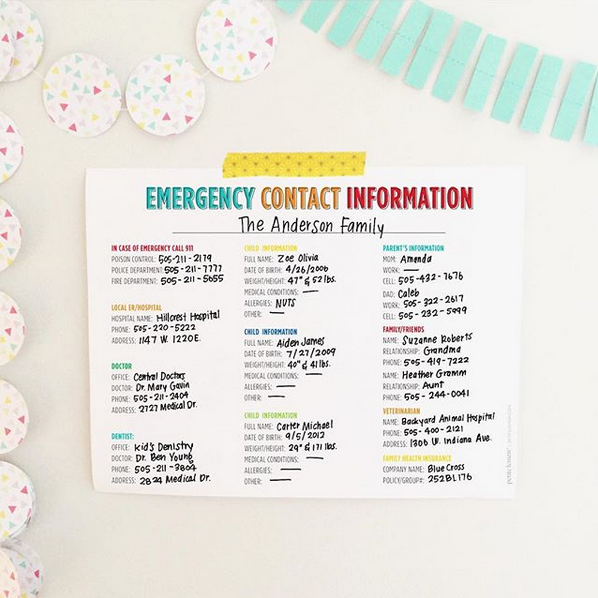 FREE DOWNLOAD: Emergency Contact Form