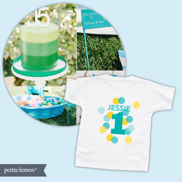 We turned to Pop Sugar Mom's for a few 1st Birthday Boy Party ideas.  Of course, we have them paired with our favorite personalized 1st birthday shirts.  See which party ideas go with what shirts! | Petite Lemon