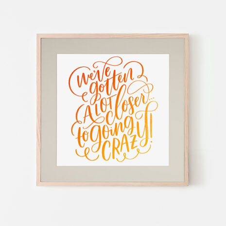 going-crazy-framed-print