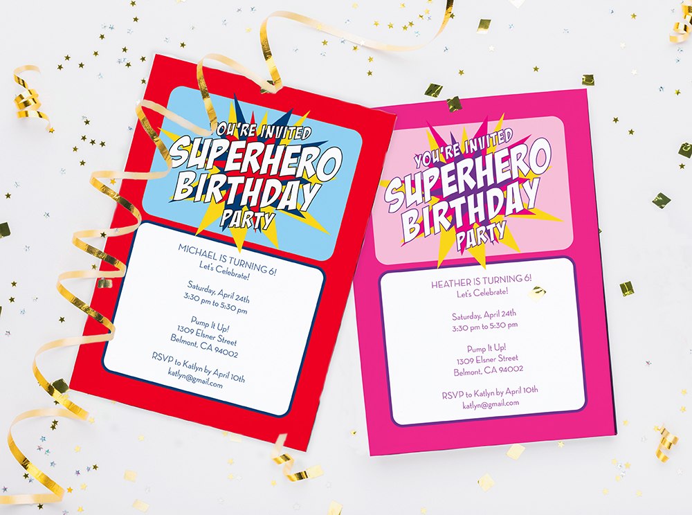 super hero cards